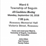 All Candidates Meeting – Ward 6